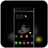 Theme for tech hand draw astronaut wallpaper icon