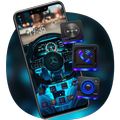 Tech Sense Steering Wheel Car Theme Galaxy M20
