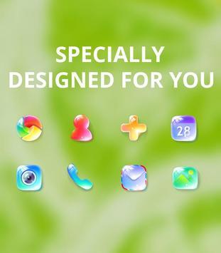 Nature bright fresh green lemon bubble theme screenshot 3