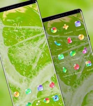 Nature bright fresh green lemon bubble theme screenshot 1