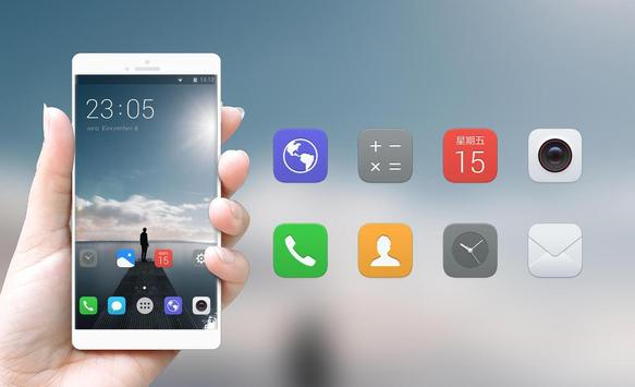 Theme for vivo Y81i | lonely person launcher screenshot 3