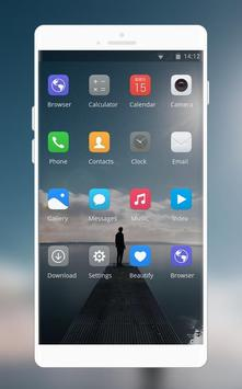 Theme for vivo Y81i | lonely person launcher screenshot 1