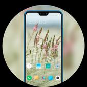 Small fresh flowers theme for sharp aquos r2 icon