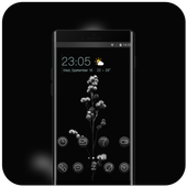 Black flower theme | Mi Power Pro icon