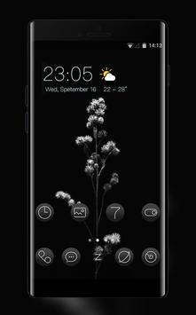 Black flower theme | Mi Power Pro poster