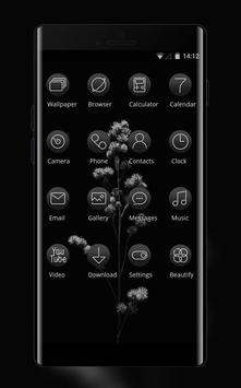 Black flower theme | Mi Power Pro screenshot 1