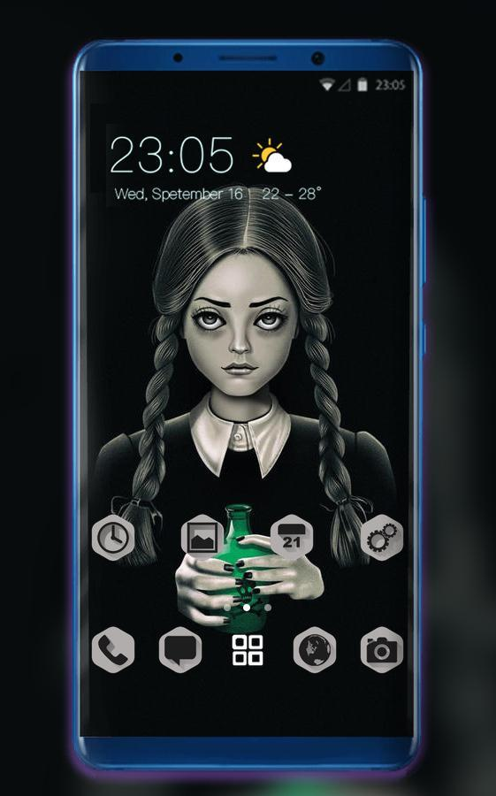 Wednesday Addams Theme Wallpaper For Beauty Girl For