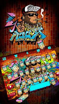 Cool Street Graffiti Keyboard Theme poster
