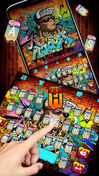 Cool Street Graffiti Keyboard Theme screenshot 1