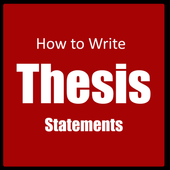 How to write a thesis statement icon
