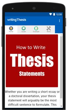 How to write a thesis statement poster