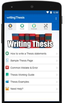 How to write a thesis statement screenshot 1