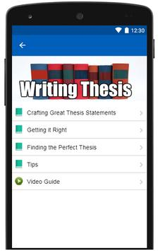How to write a thesis statement screenshot 2