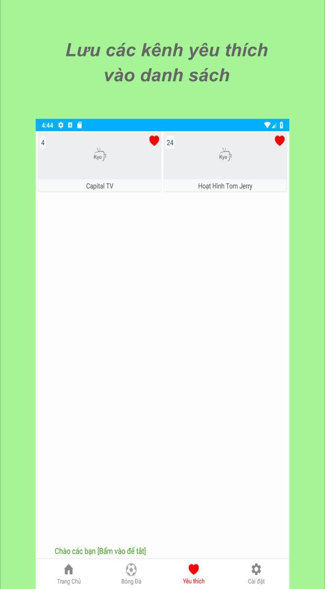 Xem Bong Da TV ⚽️ Xem Tivi Truc Tuyen Mien Phi for Android