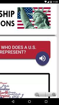 US Citizenship Test 2019 Audio - Free Exam Prep capture d'écran 4