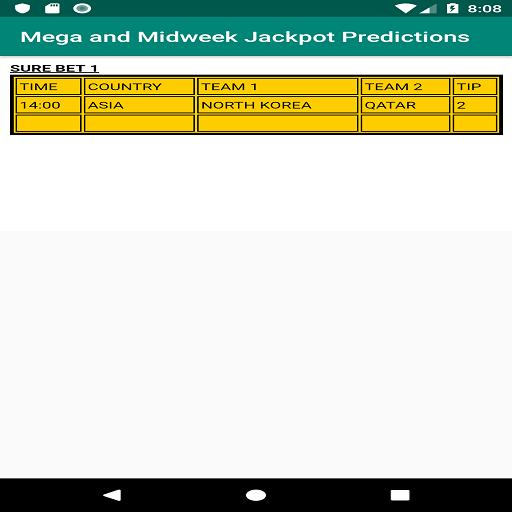 Mega and Midweek Jackpot Predictions for Android - APK Download