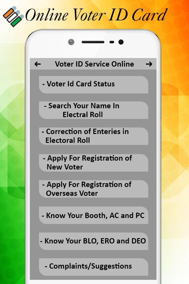 Voter ID card Services - Voter List Online 2018 for Android
