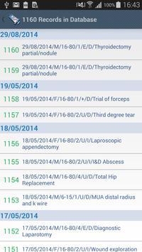 Anaesthesia Logbook-Log4ASLite captura de pantalla 4