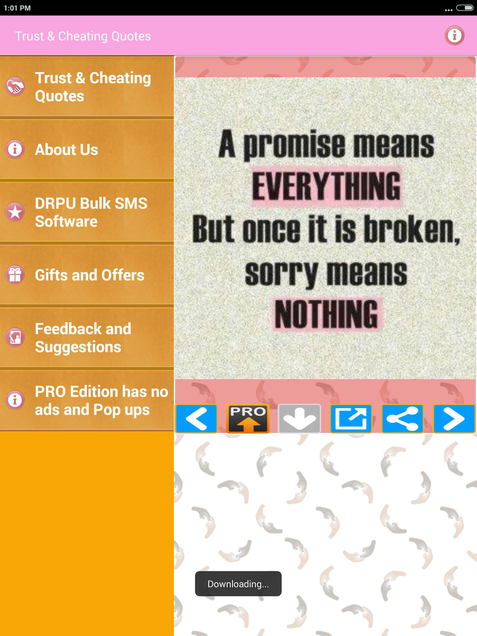 Trust & Cheating Status Images Picture Quotes FULL for Android - APK