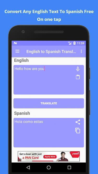 English to spanish translate voice translator for android apk.