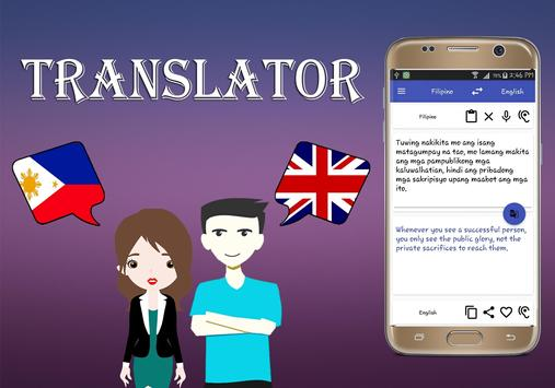 Filipino To English Translator screenshot 2