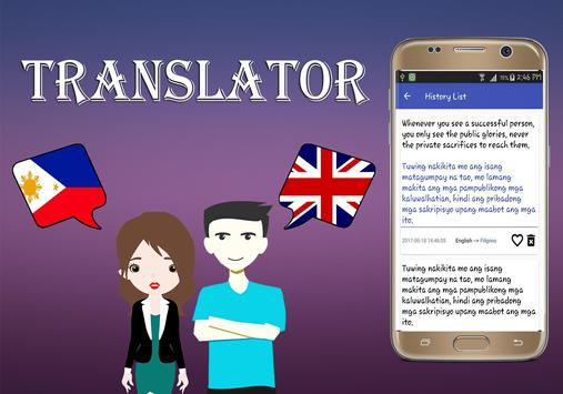 Filipino To English Translator screenshot 3
