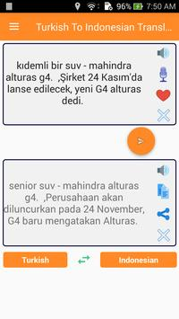 Turkish Indonesian Translator screenshot 3