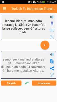 Turkish Indonesian Translator screenshot 1