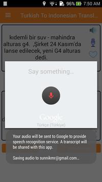 Turkish Indonesian Translator screenshot 2