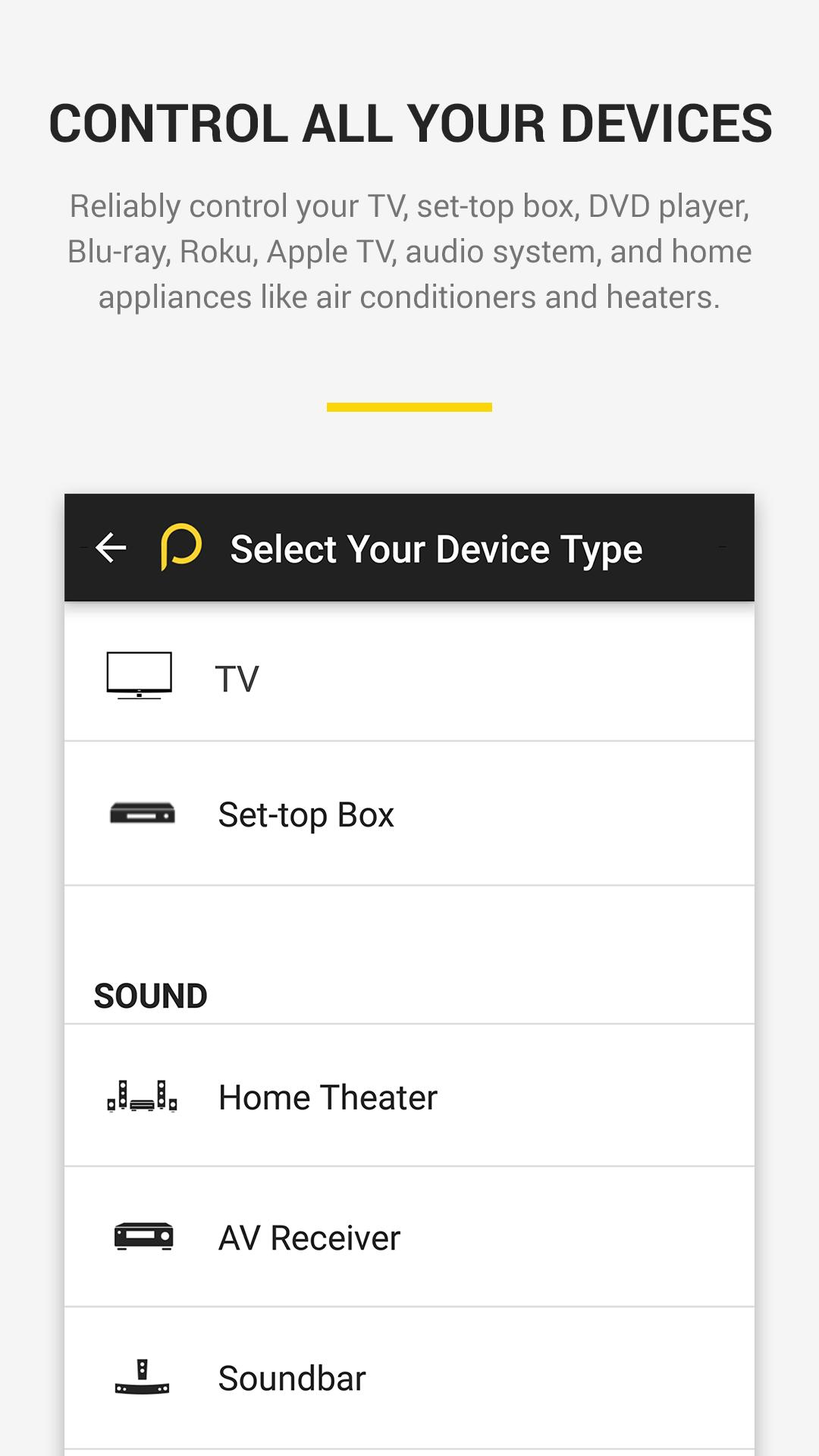 Peel Universal Smart TV Remote Control for Android - APK