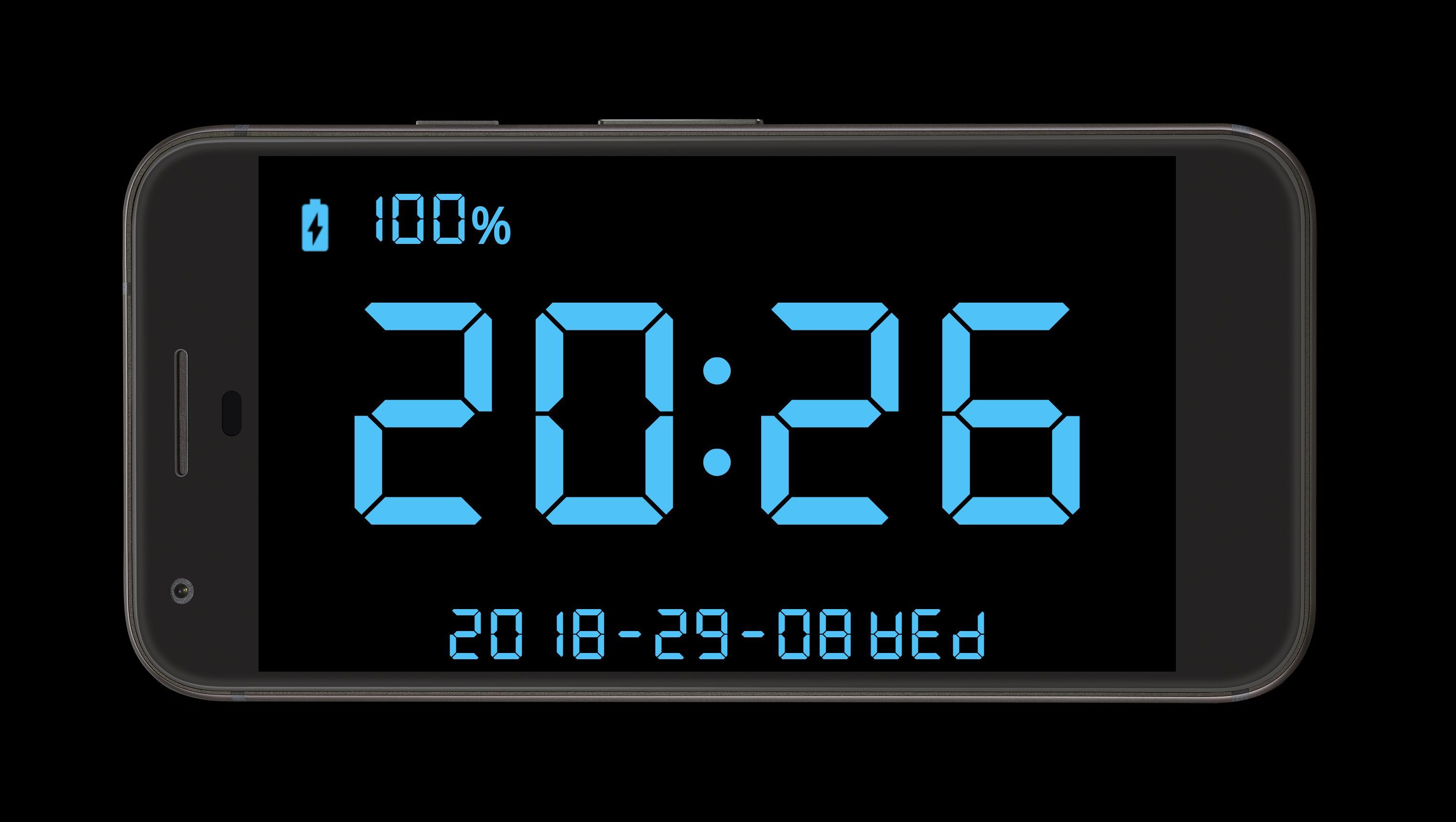 Fullscreen Digital Clock for Android - APK Download