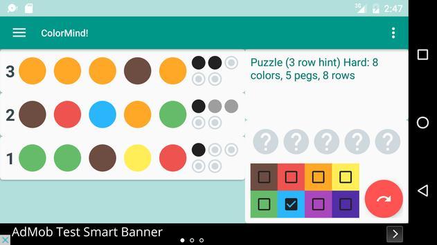 ColorMind! A mastermind puzzle screenshot 4