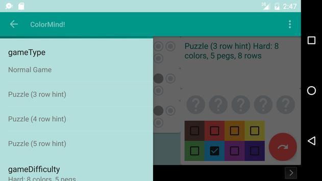 ColorMind! A mastermind puzzle screenshot 5