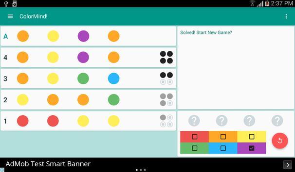 ColorMind! A mastermind puzzle screenshot 9