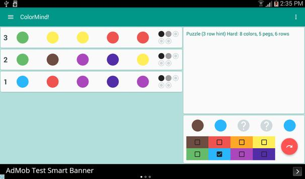 ColorMind! A mastermind puzzle screenshot 10