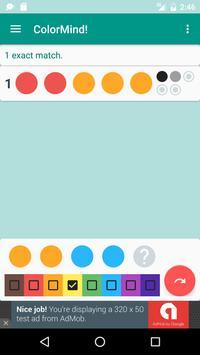 ColorMind! A mastermind puzzle screenshot 1