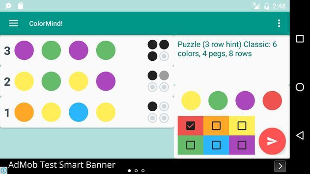 ColorMind! A mastermind puzzle screenshot 3