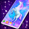 Cute Unicorn Live Wallpaper icon