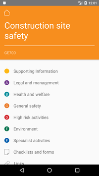 CITB Health Safety and Environment Publications screenshot 1