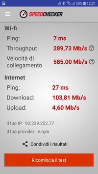 6 Schermata Test di velocità Internet e Wi-Fi di SpeedChecker
