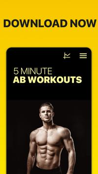 5 Minute Ab Workouts स्क्रीनशॉट 9