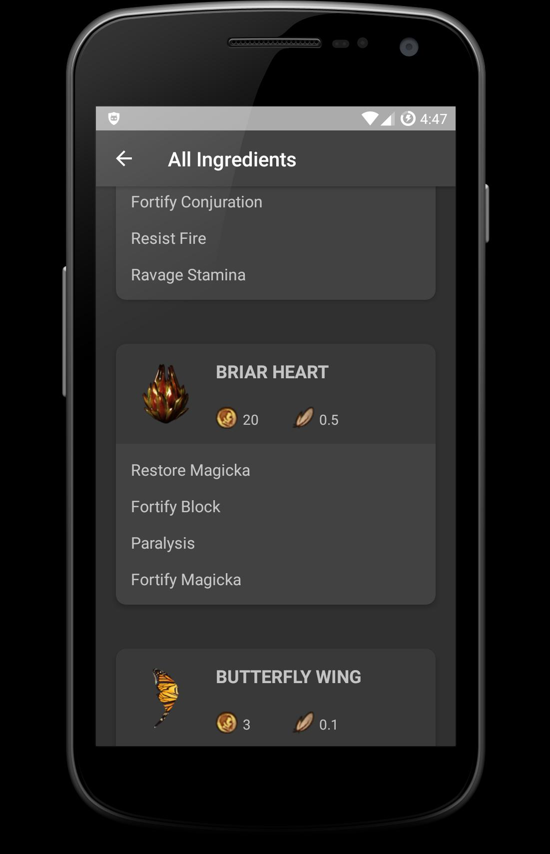 ALCHEMY FOR SKYRIM - Potion Ingredients para Android - APK
