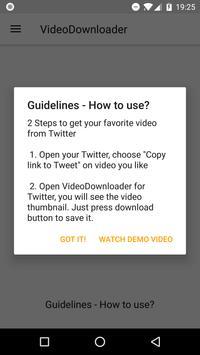 Video Downloader for Twitter screenshot 1