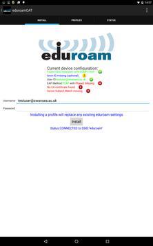 eduroam CAT Ekran Görüntüsü 4