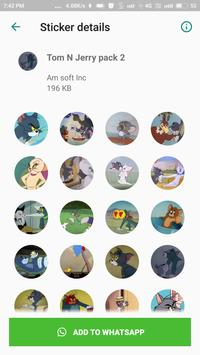 Stickers for Tom And Jerry- Sticker for Whatsapp screenshot 1