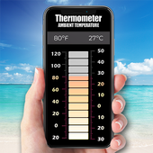 Precise thermometer for free icon