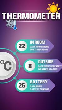 Air temperature thermometer poster