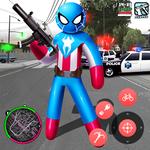 Spider Capitaine american Stickman Rope Hero Crime APK
