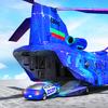 ikon Grand US Police Car Transport Truck: Parking Game