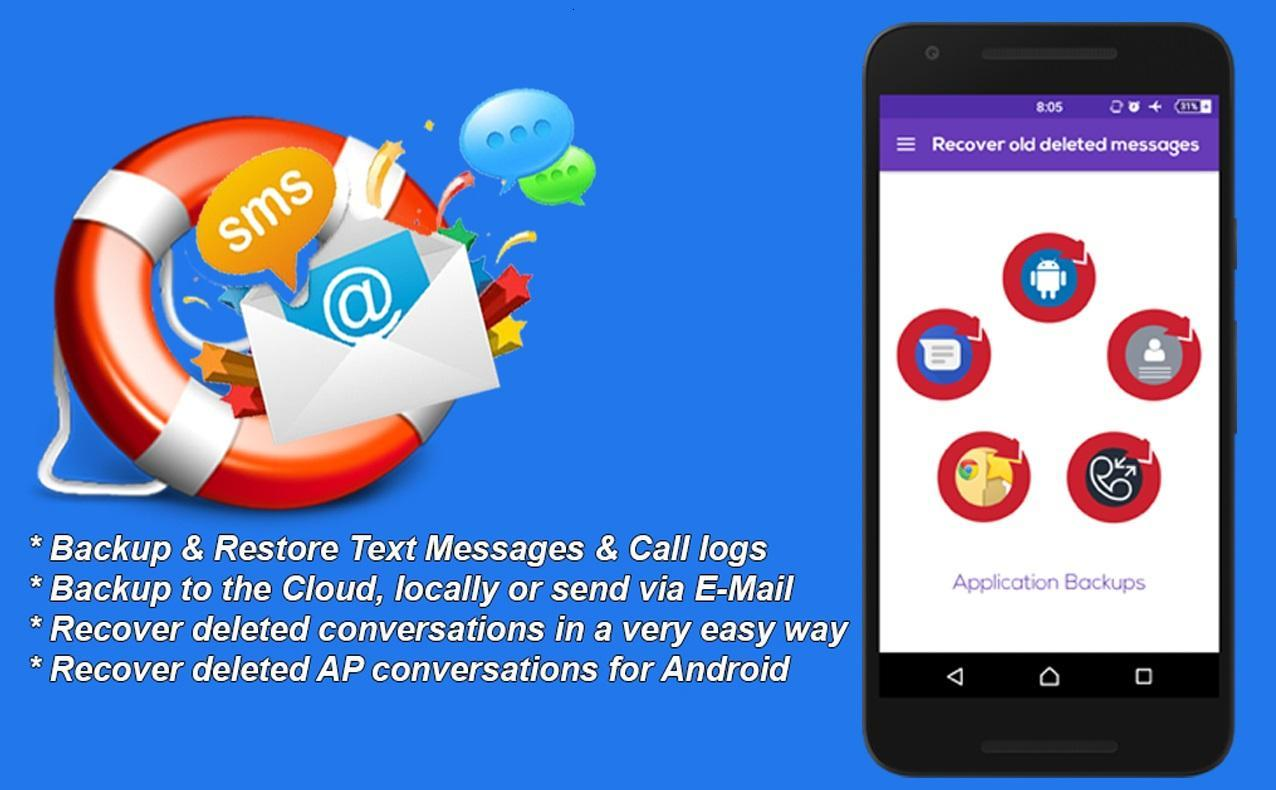 Recovery Deleted Text Messages - SMS Restorer App  for